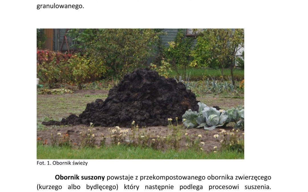 Obornik suszony i granulowany- alternatywa dla obornika świeżego
