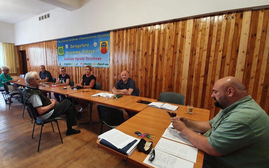 Spotkanie zespołu do obsługi walnych zebrań sprawozdawczych (konferencji delegatów) w Rodzinnych Ogrodach Działkowych w Zabrzu